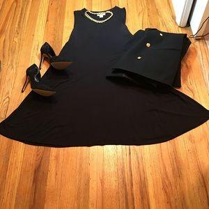 Wardrobe Essential LBD Black Swing Dress!
